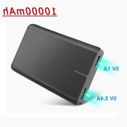 10000mAh Power Bank Dual USB External Battery Portable Charg