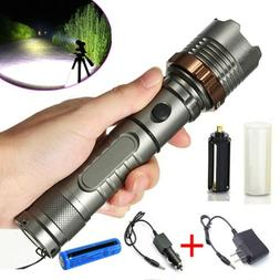 120000LM Tactical Police T6 LED 5Modes Rechargeable Flashlig