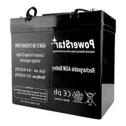 12V 55AH Car Stereo Battery replace Stinger SPV44 SPP1200 -