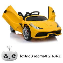 12V Luxury Kids Ride on Super Sports Car Electric Battery Re