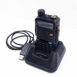1PCS USB Car Radio Battery Charger For BAOFENG BF-UV5R UV-5R