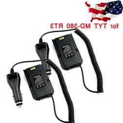 2pcs Car Charger Battery Eliminator for Retevis RT3 TYT  MD-