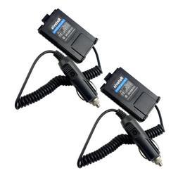 2X Baofeng UV5R Car Radio Battery Eliminator Adaptor for BF-