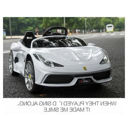3 Speed Kids Ride on Car Electric Toy Sports Car 12V Battery