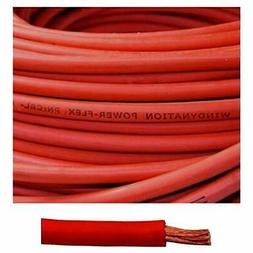 4 gauge awg cable 20 feet red