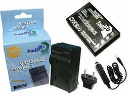 Battery + Charger + Car Plug + EU Adapter for Kodak Easyshar