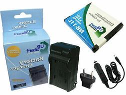 Battery +Charger +Car Plug +EU Adapter for Canon PowerShot A
