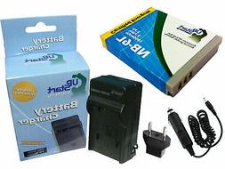 Battery +Charger +Car Plug+EU Adapter for Canon PowerShot S1