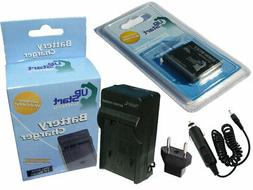 Battery + Charger + Car Plug + EU Adapter for Panasonic Lumi