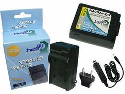 Battery+Charger+Car Plug+EU Adapter for Panasonic Lumix DMC-