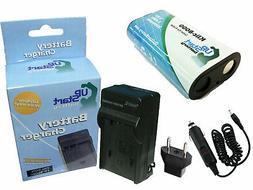Battery + Charger + Car Plug + EU Adapter for Kodak Zx1, Eas