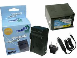 Battery+Charger+Car Plug+EU Adapter for Panasonic AG-DVX100,