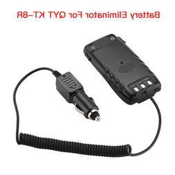 Car Charger Battery Eliminator 12V For QYT KT-8R Two Way FM
