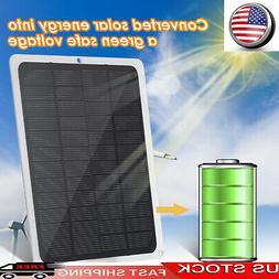 DC12V 10W Solar Panel W/ USB Port Car Chargers For 12V-Batte