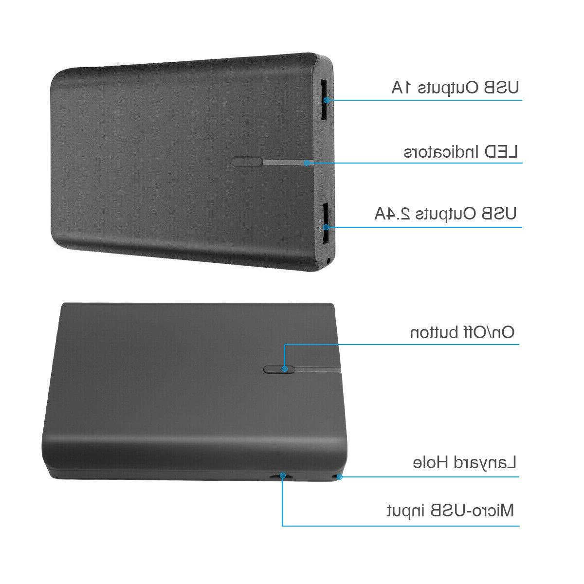 10000mAh Bank USB External Charger Cell Phone