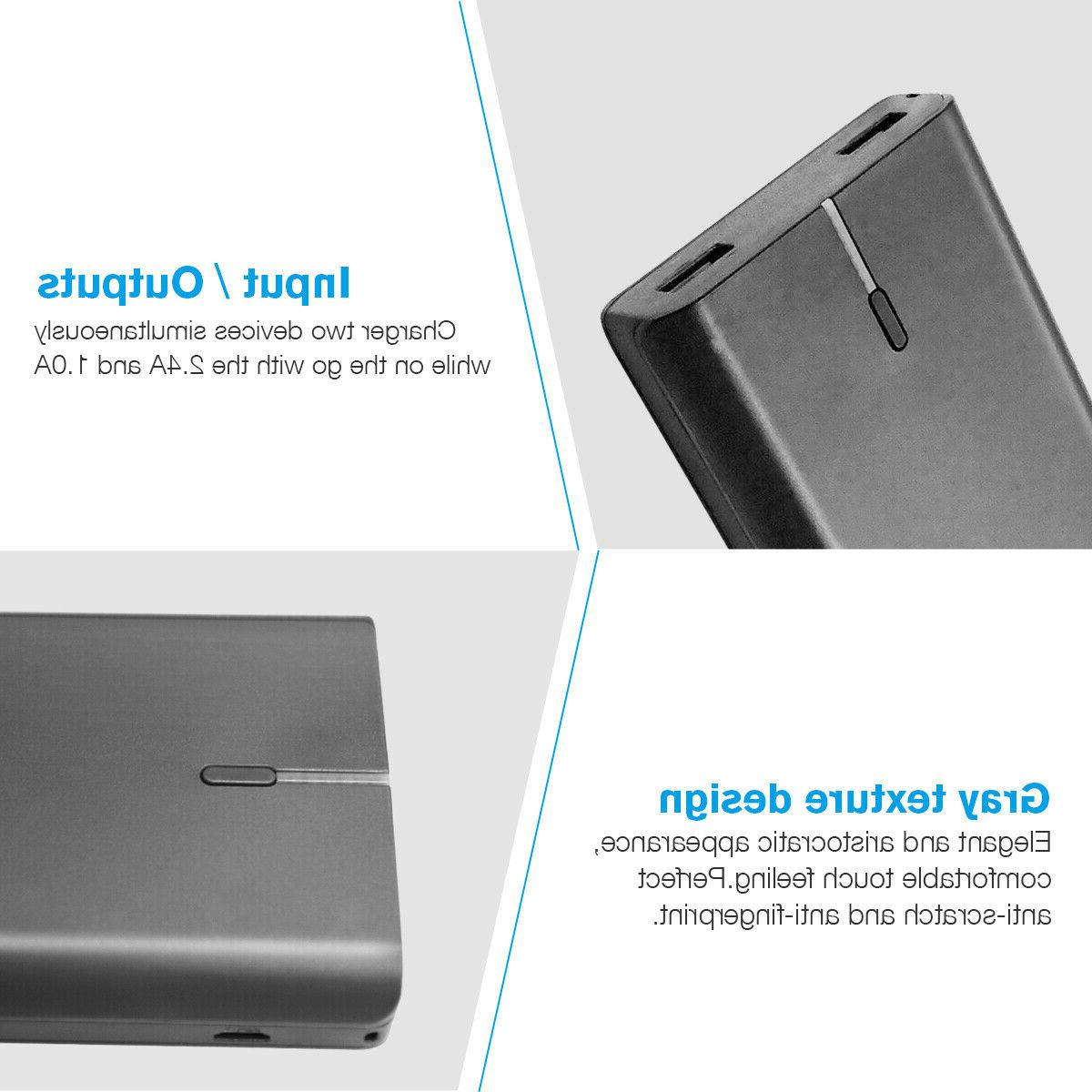 10000mAh Bank USB External Battery Charger For
