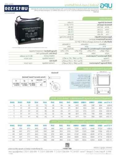 12V AGM Battery EZ Go Club Car Yamaha 48