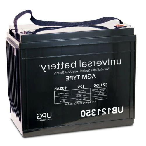12v 135ah sealed agm battery ez go