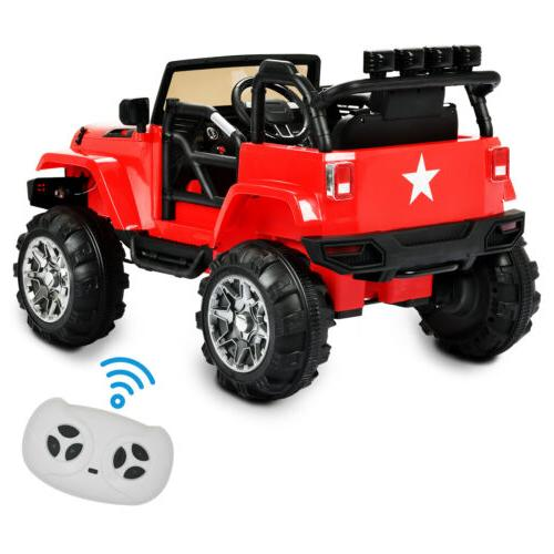 12V Electric Kids Ride on Toys Truck LED Remote