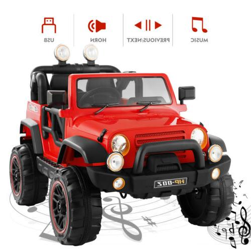 12V Ride Toys LED Music Control Red