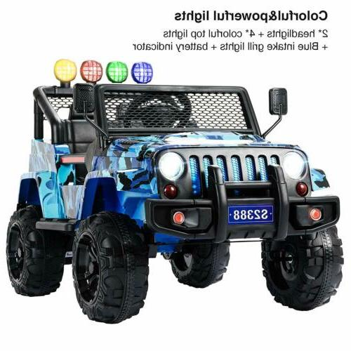 12V Ride on Car Electric Suspension With Blue