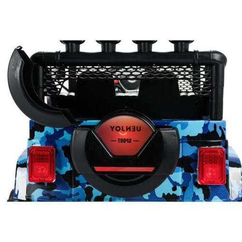 12V Kids Car Electric Battery Toys Suspension Remote Blue
