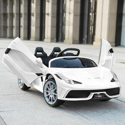 12V Ride on Super Car Electric White