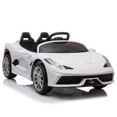 12V Luxury Kids Ride on Sports Electric Remote Control White