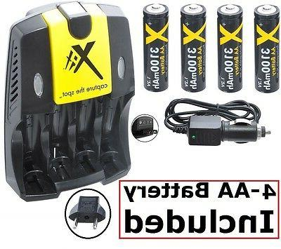 3100mah 4aa battery home and car charger