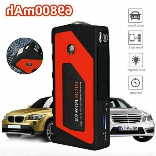 69800mAh 12V Car Starter Portable 600A