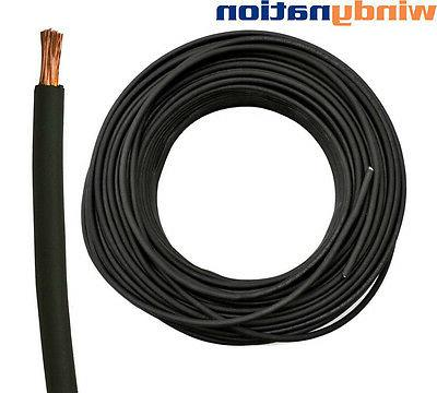 75' WELDING CABLE WIRE BATTERY CAR BOAT LEADS
