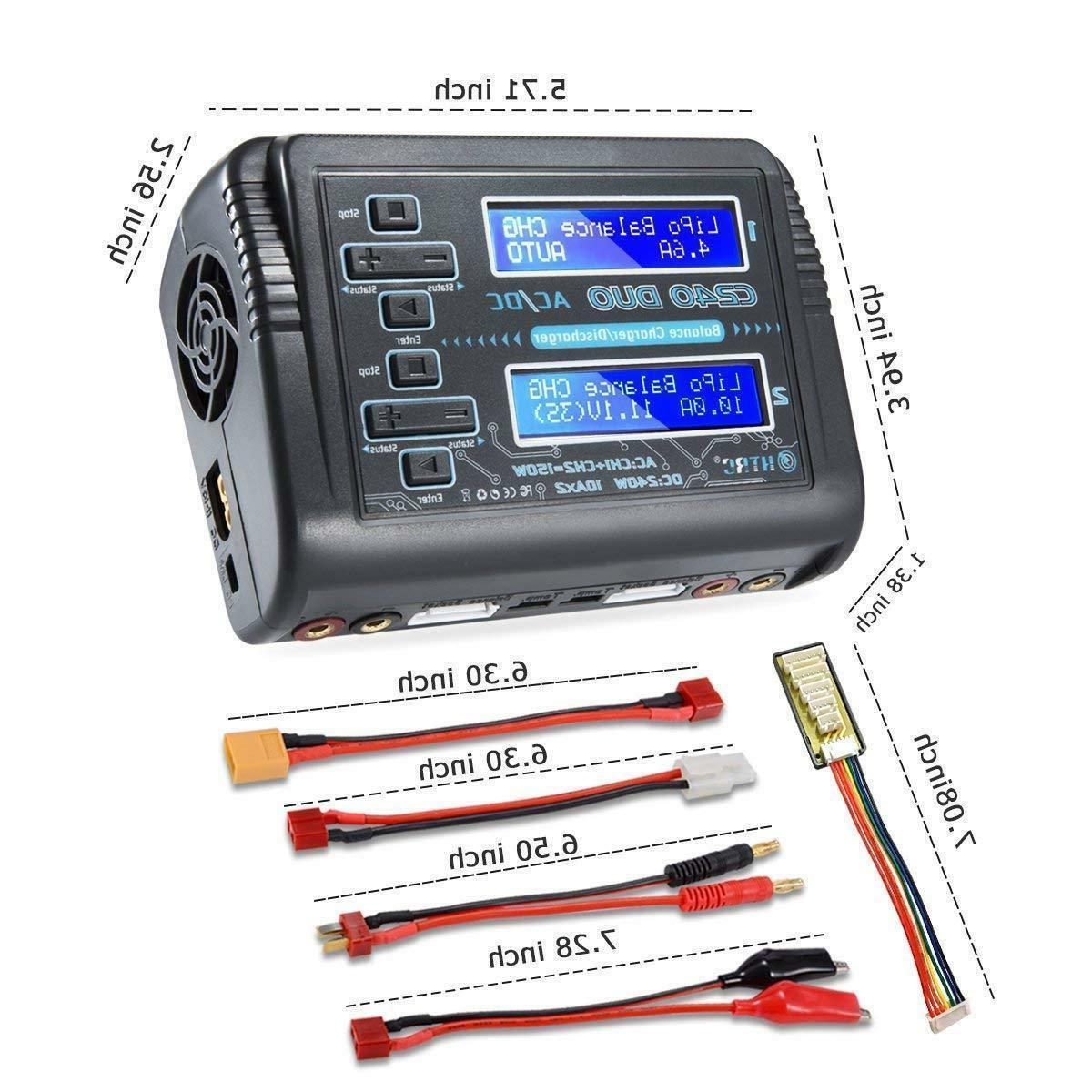HTRC 240W Dual Car Balance lipo battery Charger discharger
