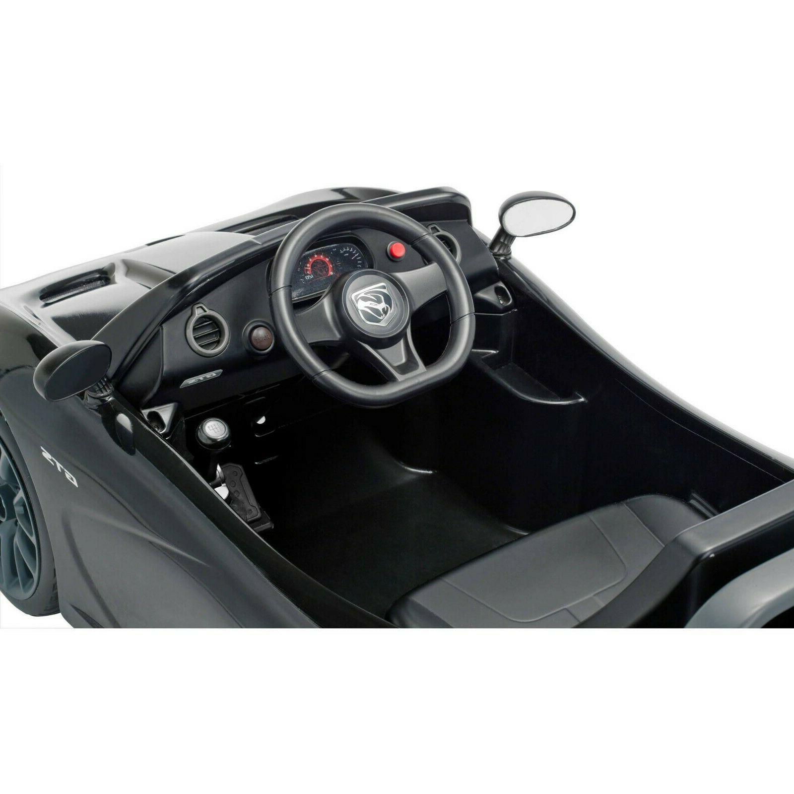 Battery Powered Car Kids Ride 6V Electric Viper Black