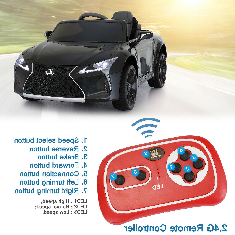 Electric 12V On Car Battery Vehicle Remote Black