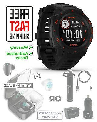 instinct esports edition black lava gps smartwatch