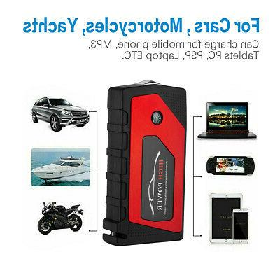 69800mAh 12V Car Jump Starter Portable Power Bank Battery Booster 600A