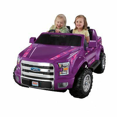 Kids Ride On Ford F-150 Battery Power Car 12V FM Radio Purpl