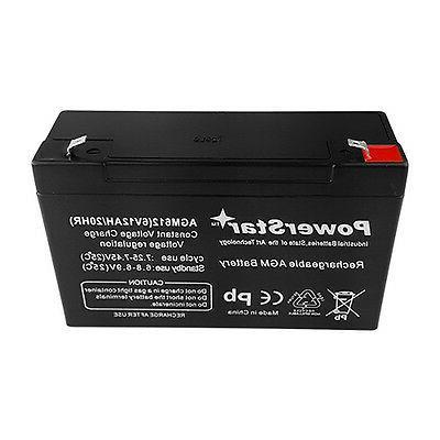 & Cars 6V Battery 6 Battery 12ah