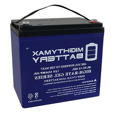 mighty max 12v 55ah gel battery replacement
