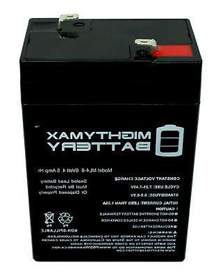 Mighty Max 6V 4.5AH Battery Replaces Dynacraft Car Model