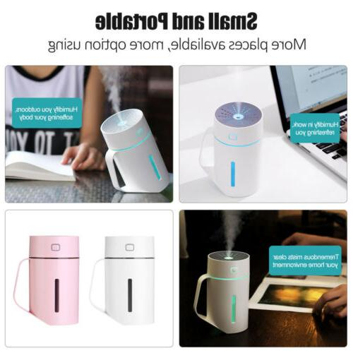 Portable USB Mini Humidifier Home Oil Aroma Purifier