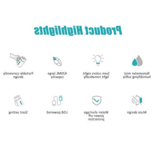 Portable Air Humidifier Home Aroma Purifier