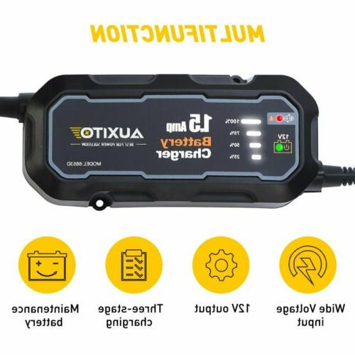 HOT Charger Maintainer AGM GEL WET Battery Vehicles