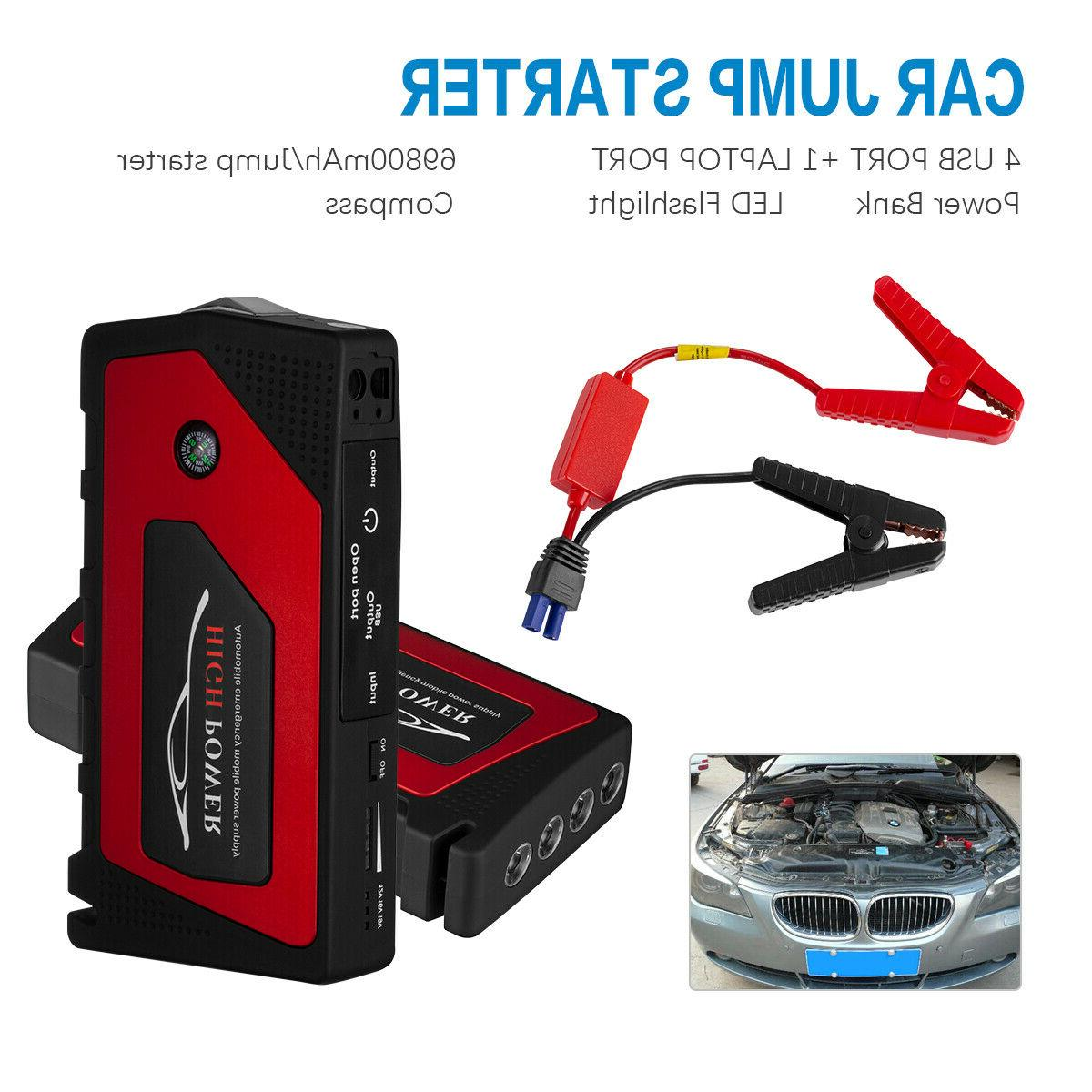 69800mAh Starter Portable Bank Battery Clamp