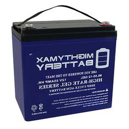 Mighty Max 12V 55AH GEL Battery Replacement for M6/T6 Car Au