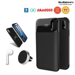 Portable Qi Wireless Battery Charger Case Power Bank Phone f