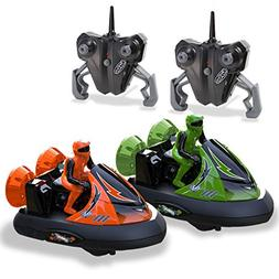 Kidirace Rc Bumper Cars | Remote Control Cars - Set of 2 wit