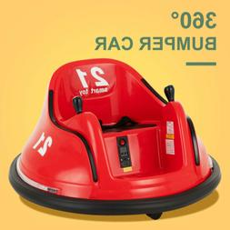 Red 360 Degree 6V Electric Kid Ride on Toy Bumper Car Batter