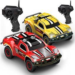 Kidirace Remote Control Car -2 Mini RC Racing Coupe Cars - W