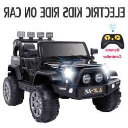 Safety Kids Ride on Car Toys Jeep 12V Battery Music Light Pa